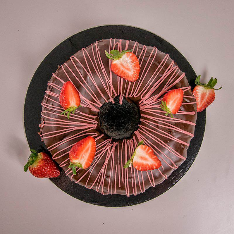 Chocolate & Raspberry Bundt Cake