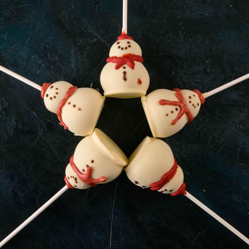 5 Snowman Cakepops