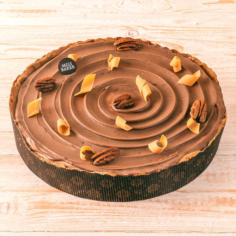 Tarta mousse de ciocolata si caramel
